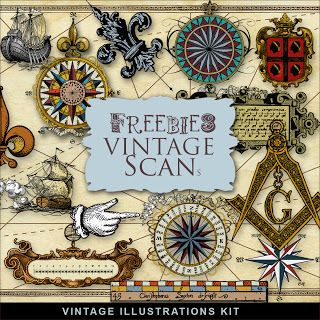 Vintage Illustrations Kit ~ Far Far Hill
