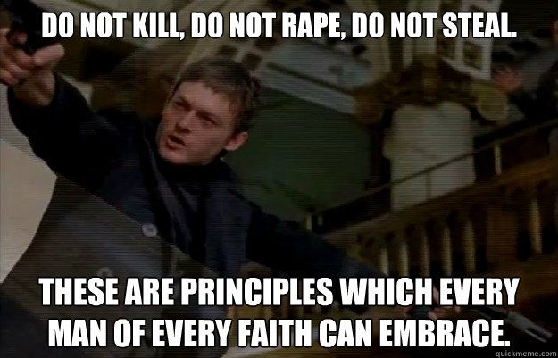 The Boondock Saints giving life lessons