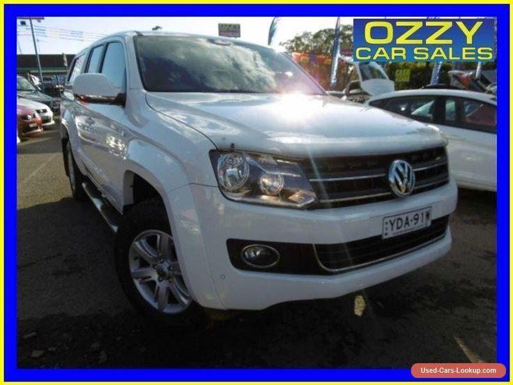 2012 Volkswagen Amarok 2H MY12.5 TDI420 Highline (4x4) White Automatic 8sp A #vwvolkswagen #amarok #forsale #australia