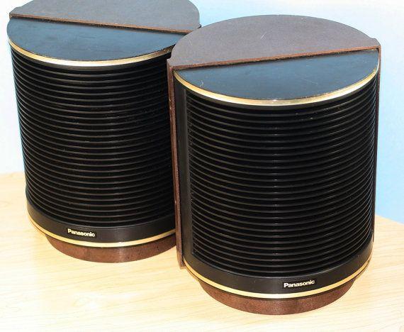 Vintage Mod Speakers Round Panasonic Retro 60s 70s By Deckvintage 42 00 Vintage Panasonic Boombox