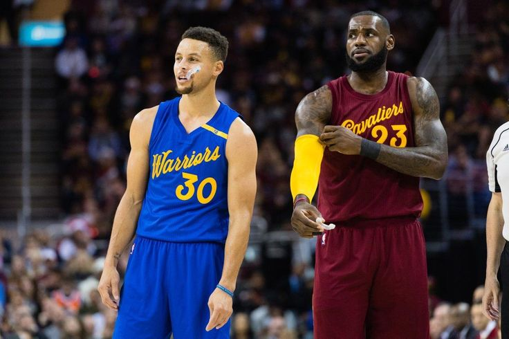 """King of Mathematics. The NBA's LeBron James (r.) calculated the statistical math, and he says that Steph Curry is worth TWICE what he was recently offered, in a June 2017 salary negotiation with the GS Warriors. The two players """"have done battle in the last three NBA Finals."""" #Respect"""