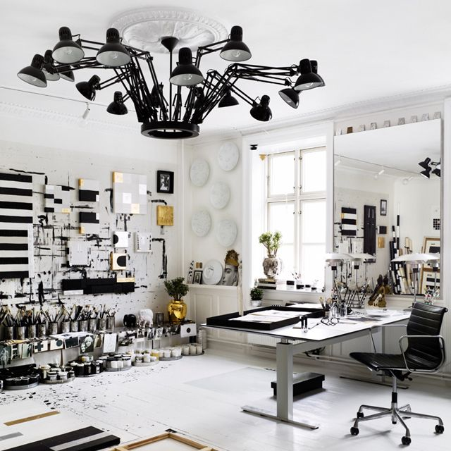 Studio light this awesome chandelier is in the studio of tenka gammelgaard photo by idha lindhag awesome especially in white