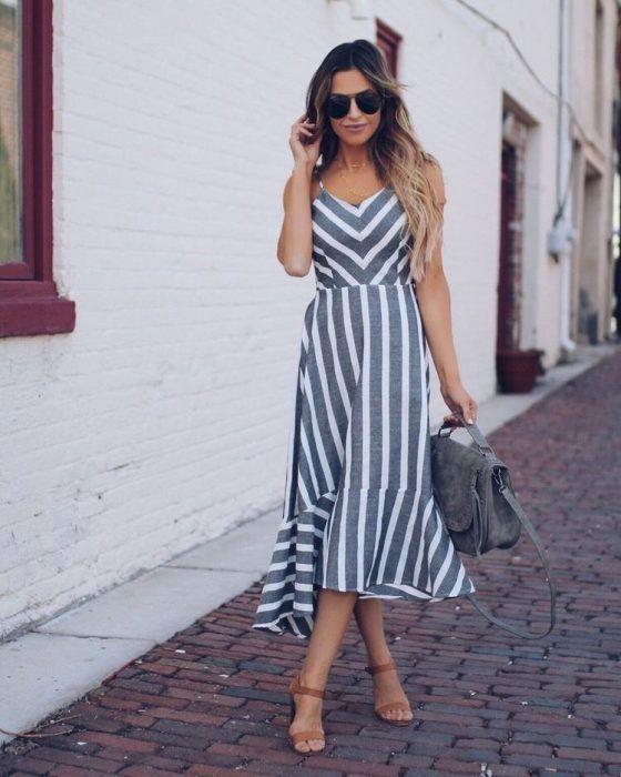 715410fea307dd 31+ Vestidos Midi de Moda para lucir Elegante y con Estilo (2019 ...