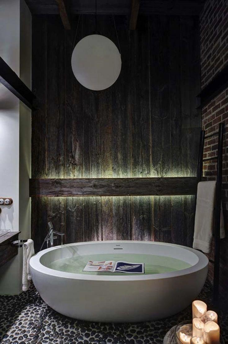 Стильный лофт в индустриальном стиле площадью 130 квадратных метров от дизайнера…