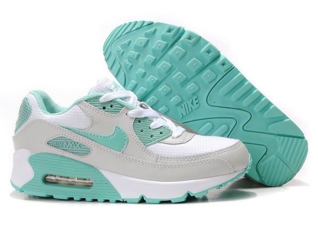 2015 Sale Shoes Halfoff Nike Air Max 90 White Grey Turquoise Womens Shoes | shoes | Pinterest | Air Max 90, Nike Air Max and Nike Air
