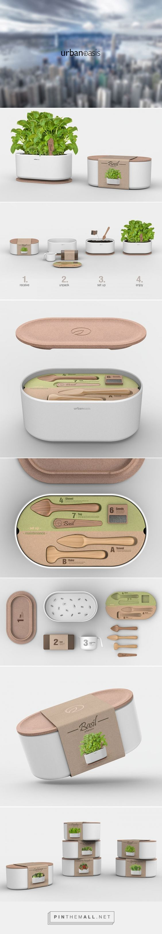 URBAN OASIS urban gardening kits by Andrea Mangone. Pin curated by #SFields99 #packaging #design
