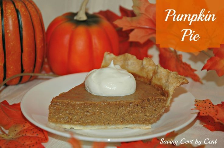 Pumpkin Pie, Pie Crust & Whipping Cream Recipes