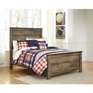 Shop for Signature Design by Ashley Trinell Brown Full-size Bed Frame. Get free shipping at Overstock.com - Your Online Furniture Outlet Store! Get 5% in rewards with Club O! - 17331404
