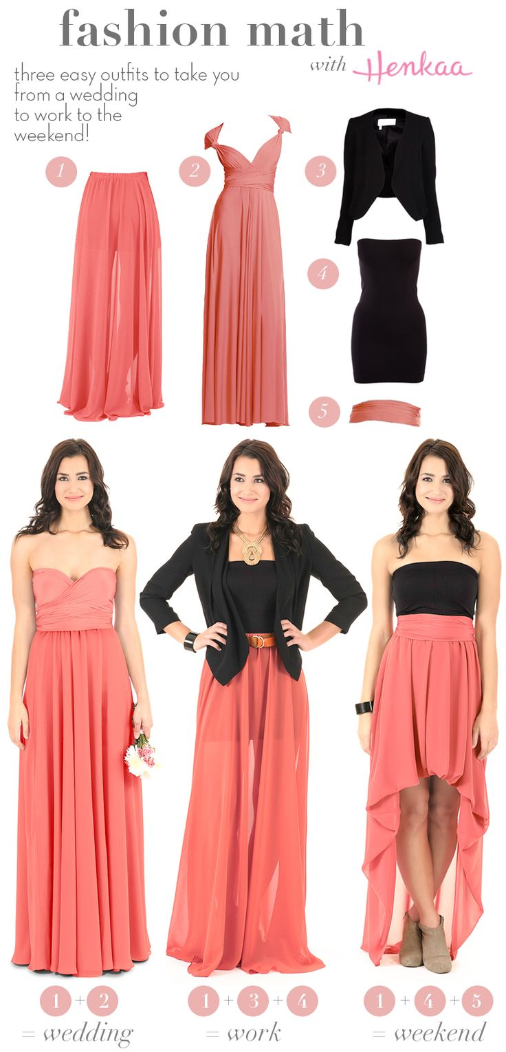 Get more use out of that Bridesmaid dress & Chiffon Overlay after the big day. New ways to style your convertible separates. Henkaa Convertible style. Order at us.henkaa.com/karib and use stylist ID 1026