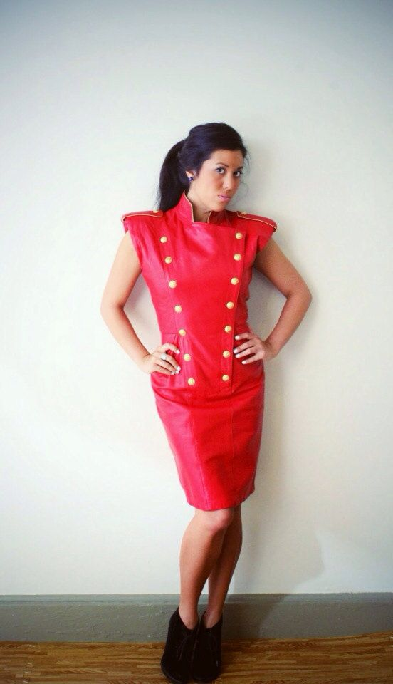 Michael Hoban for North Beach Leather Red by MeriweatherVintage