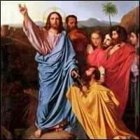 """Evangelio según San Mateo 16,13-19. Al llegar a la región de Cesarea de Filipo, Jesús preguntó a sus discípulos: """"¿Qué dice la gente sobre el Hijo del hombre? ¿Quién dicen que es?"""".  Ellos le respondieron: """"Unos dicen que es Juan el Bautista; otros, Elías; y otros, Jeremías o alguno de los profetas"""".  """"Y ustedes, les preguntó, ¿quién dicen que soy?"""".  Tomando la palabra, Simón Pedro respondió: """"Tú eres el Mesías, el Hijo de Dios vivo"""".  Y Jesús le dijo: """"Feliz de ti, Simón, hijo de Jonás…"""