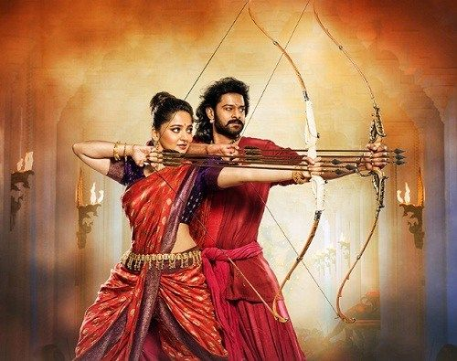 Prabhas and Anushka Shetty in Baahubali 2