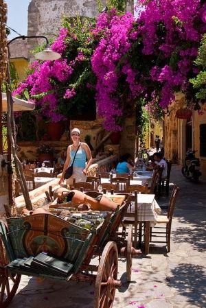 Semiramis Taverna in Chania, Crete Island, Greece by Eva