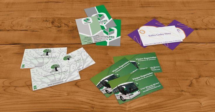 Presentación de tarjetas de visita.