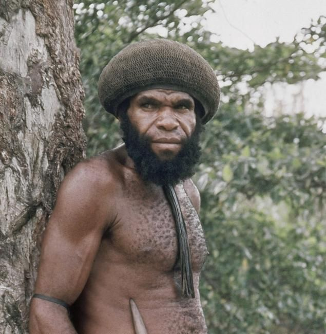 A 1973 photo of chief Ajam of the Dani Tribe who told missionaries he killed Michael Rockefeller.  Read more: http://www.nydailynews.com/entertainment/music-arts/michael-rockefeller-killed-eaten-headhunters-claim-article-1.1722883#ixzz2wOLa8Mpe