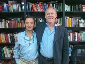 En el despacho en México D.F. con mi primo Cristóbal Pera, director editorial de Random House Mondadori Latinoamérica y USA