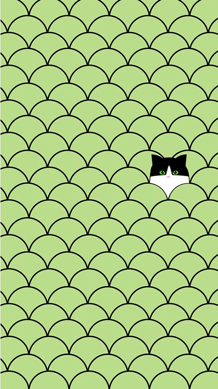 Funny Cat Circles Pattern iPhone 6 Wallpaper