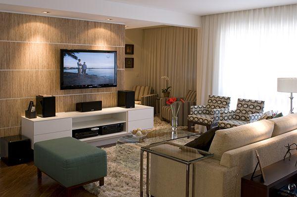 Puff sala de estar pesquisa google apartamentos - Paredes decoradas modernas ...