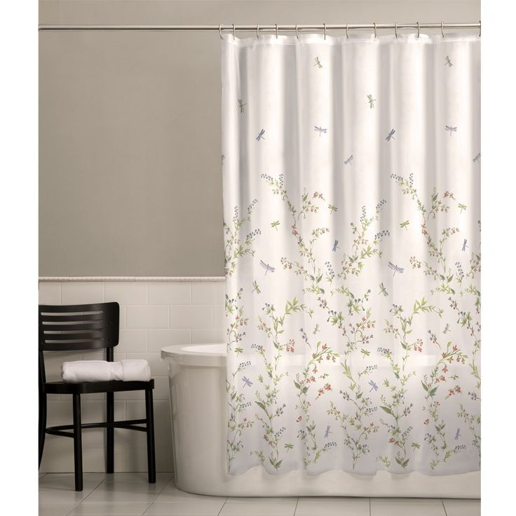 Dragonfly Bathroom Decor Vinyl Shower CurtainsShower