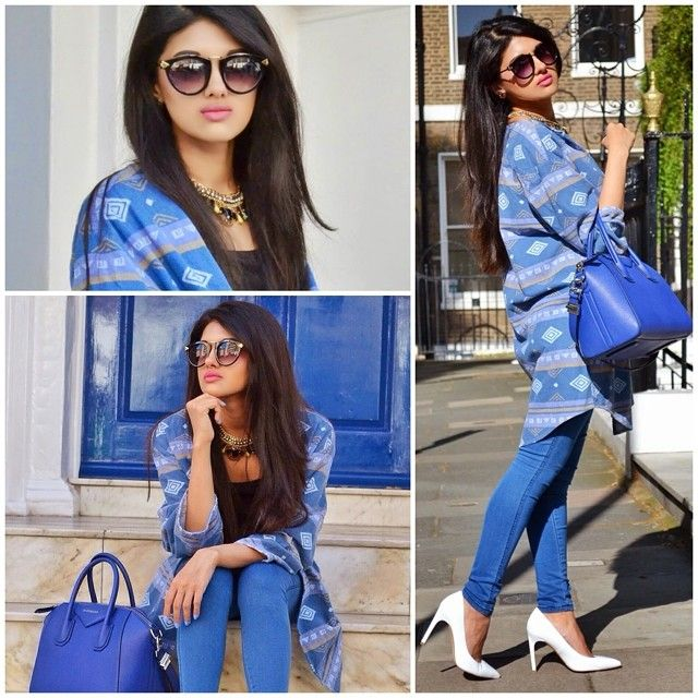 Fashion Blogger @jriyya is looking lovely in our retro sunglasses! #fbloggers #ootd #wiwt