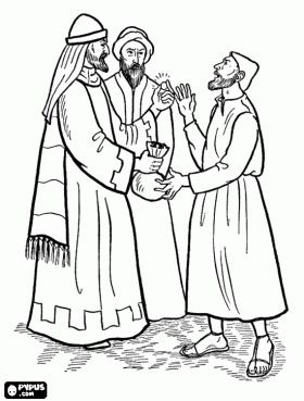 "Holy Week:  Today is ""Spy Wednesday"" which is the day that Judas Iscariot first conspired with the Sanhedrin to betray Jesus for thirty silver coins.  Catholic Coloring Page!  To print out the image for real crayon coloring, click on the picture to open it, and then look for the button that shows a square and black and white ink tear drops."