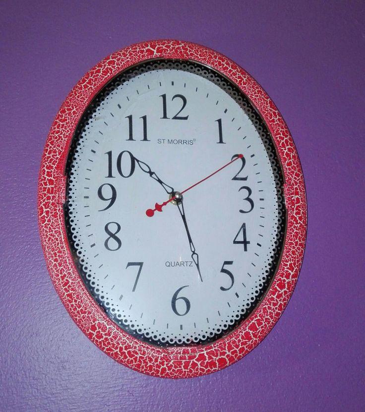 Reloj con craquelado