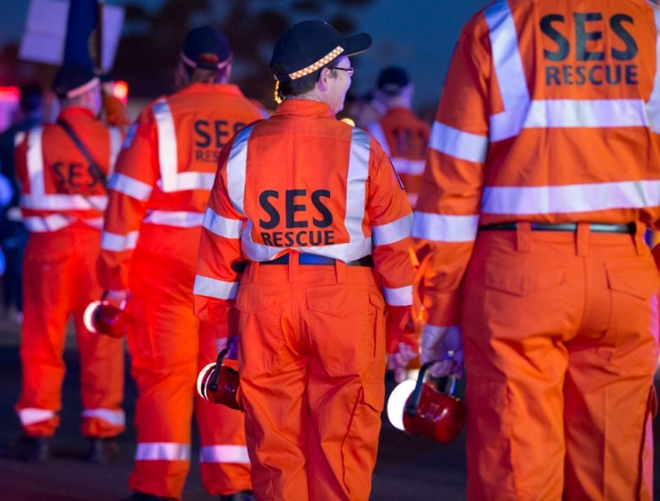 SES crews at the Craigieburn Community Festival where Craigieburn brigade's torchlight procession is held.