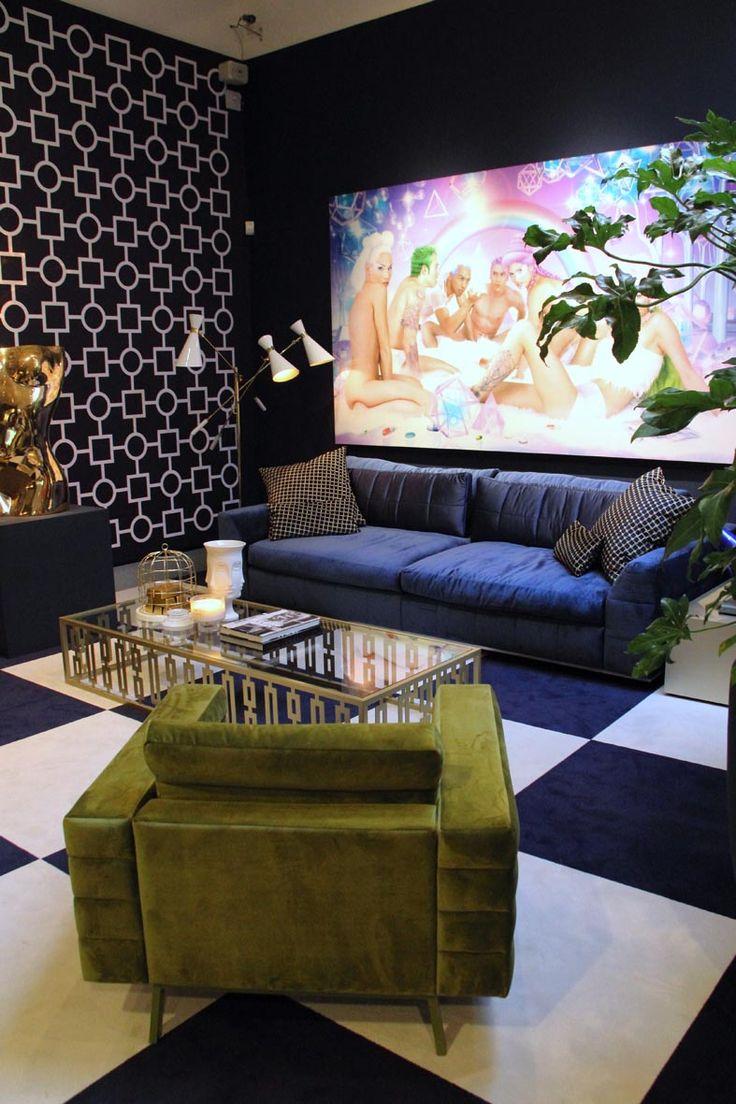Salon Residence in Laren - Interior Design by Monique en Jan des Bouvrie - foto Monique Tieleman #interiordesign #interiorstyling #eclectic #wallpaper #wallcovering #patterns #textile