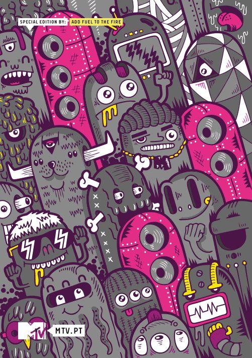 Mtv Sketchbook by Diogo Machado, via Behance