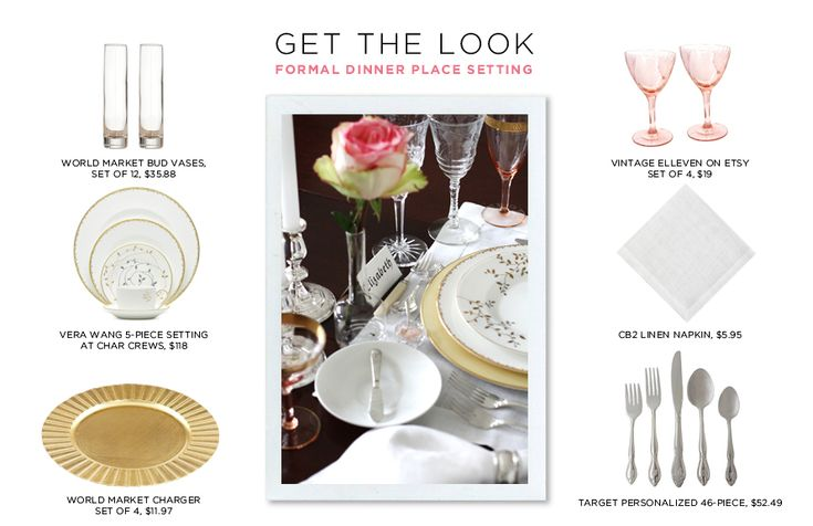Place settings get the look formal dinner place - Formal dinner table setting etiquette ...