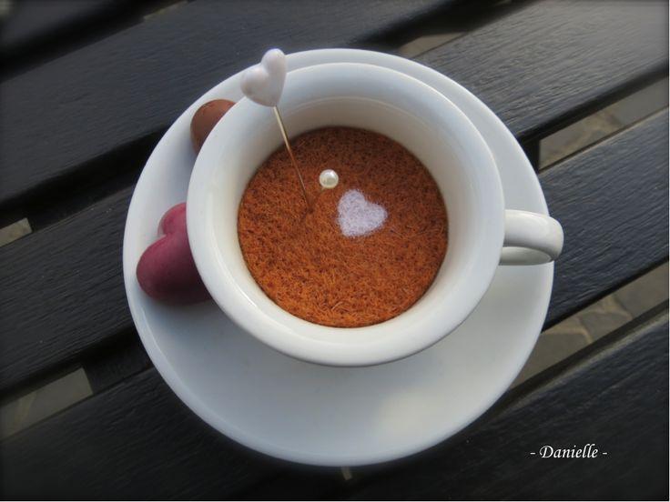 Café Latte en laine feutrée