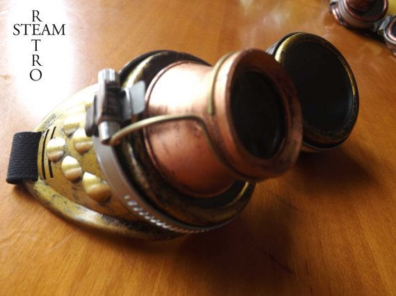 10% off coupon: SALE15 bronze steampunk goggles with by SteamRetro