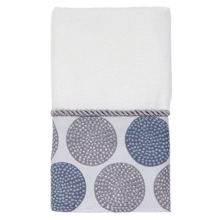 Avanti Dotted Circle Fingertip Towel, White