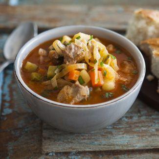 Густой овощной суп в мультиварке