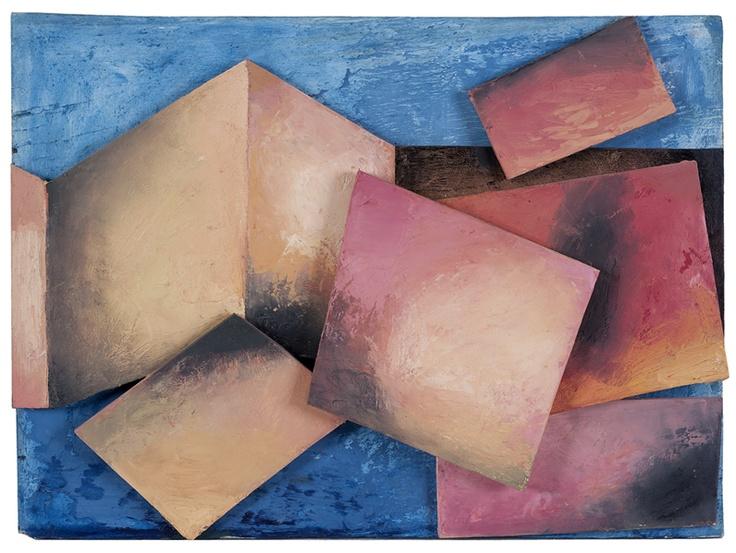 Sense títol (formes geomètriques). Acrílic, llapis sobre paper i fusta, 35 x 47 cm. 1985-2011 - Museum of Montserrat
