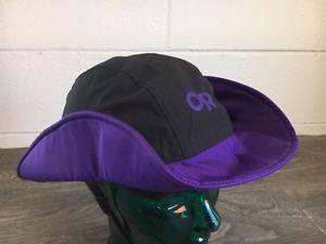 eb9f1a8c30807 Outdoor Research Hat Vintage Sombrero Usa Made Purple Black Goretex Medium  River