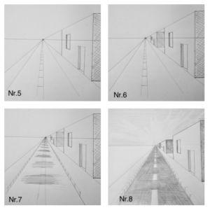 Fluchtpunktperspektive mit einem Punkt: Straße zum Horizont – Howto Draw