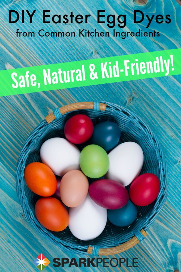 D.I.Y. Natural Easter Egg Dyes: Nothing artificial, these safe homemade dyes are kid-friendly and easy to make with common kitchen ingredients! | via @SparkPeople #food #craft