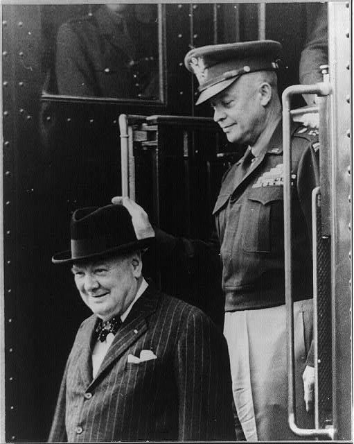 Dwight D. Eisenhower and Winston Churchill, 1946.