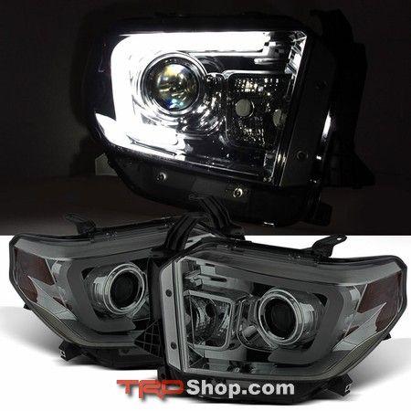 Headlights, Toyota Tundra (2014+) Light Bar DRL - Smoked