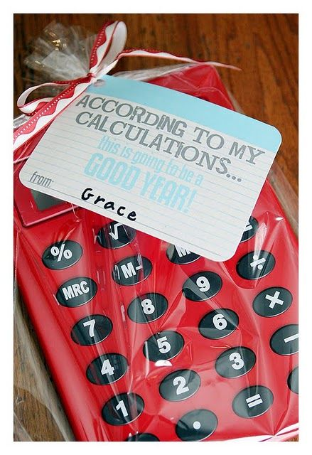 Volgens mijn berekeningen was je een topper, bedankt! teacher appreciation gift