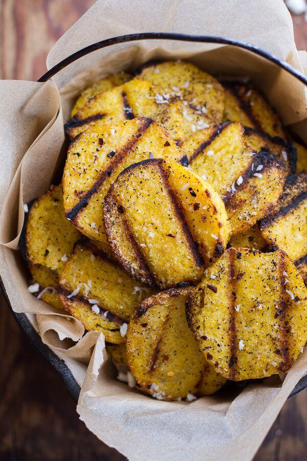Grilled Parmesan Polenta Chips
