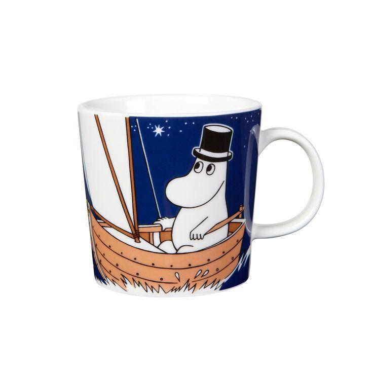 Moominpappa deep blue mug