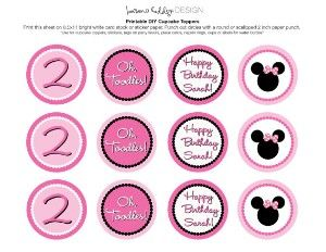 free minnie mouse printables | DIY Printable Minnie Mouse Cupcake Toppers | review | Kaboodle