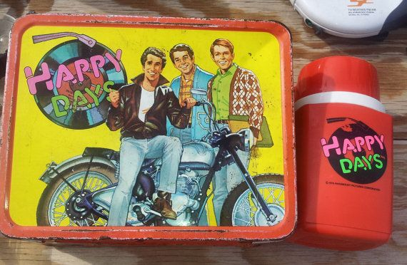 Happy Days Vintage Lunch Box with Original Thermos - Very Good Condition