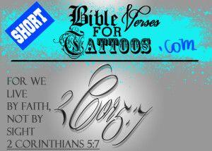 SHORT BIBLE VERSES for TATTOOS   Bible Verse Tattoos 2014