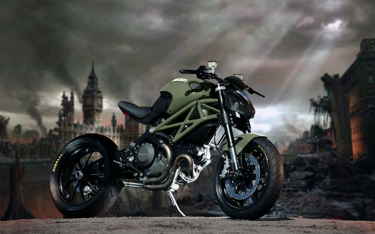 Dusty Wheels Racers : Post-atomic Ducati Monster!!