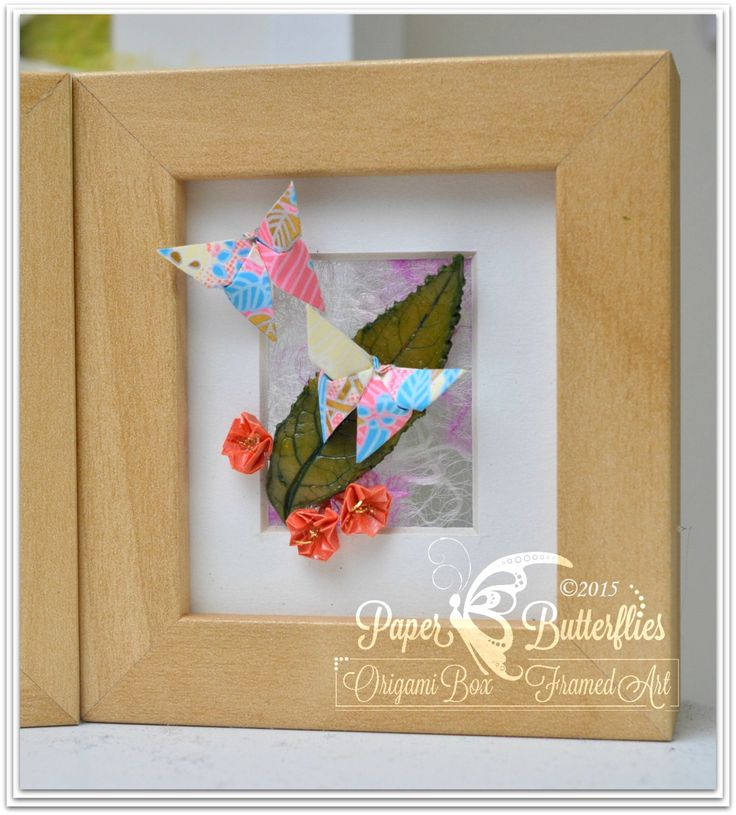 Blossom and Buddleja Miniature Origami Artwork by PaperButterfliesM on Etsy