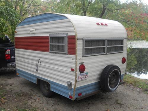 Vintage camper trailer playmor 1969 w kitchen very light for Ebay motors car trailers