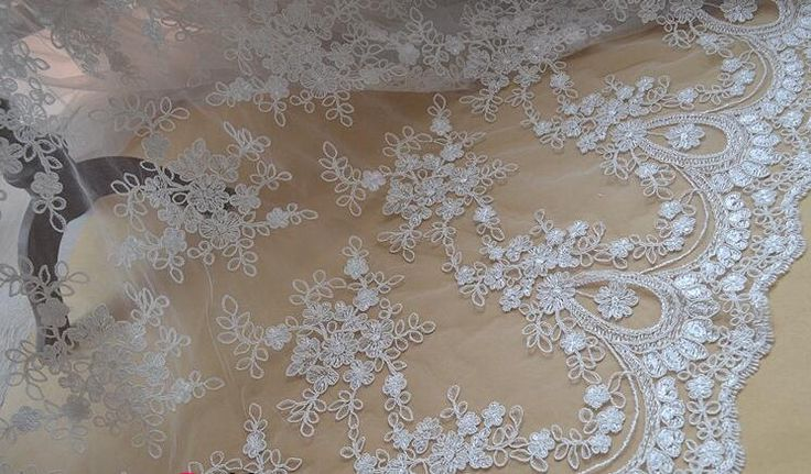 lace fabric, 3D lace fabric, bridal lace fabric,wedding lace fabric,french lace fabric, ivory lace fabric, guipure lace fabric with flowers by AnnabelleDIY on Etsy